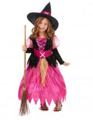 Den lille lyserøde heks - Hekseudklædning til piger
