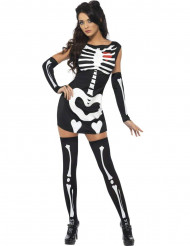 Udklædning sødt skelet kvinde halloween