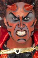 Sminekit dæmon med horn Halloween