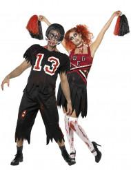 Parkostume amerikansk fodbold og cheerleader zombie Halloween