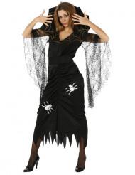 Edderkoppekjole Kvinde halloween