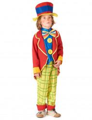 Rødt og gult klovnekostume til børn