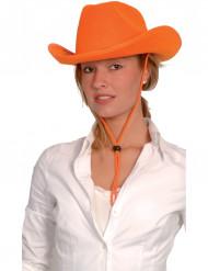 Cowboyhat orange voksen