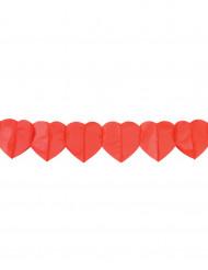 2 papirguirlander med røde hjerter