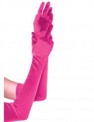Lange lyserøde handsker
