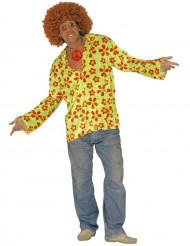 Kostume grøn hippie til voksne