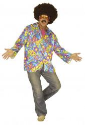 Kostume blå hippie til voksne