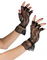 Handsker i sorte blonder kvinde