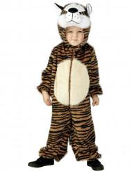 Brunt tigerkostume til børn