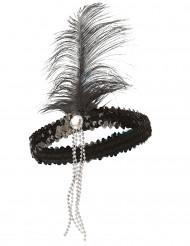 Hårbånd charleston sort