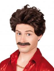 Paryk med moustache mand