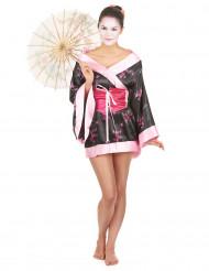 Piget geisha - Lyserødt geisha kostume til kvinder