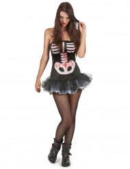 Sexet skeletdragt Halloween Kvinder