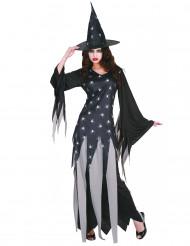 Sort Halloween heksekjole til kvinder