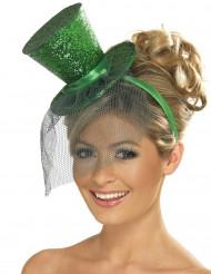 Minihat høj grøn kvinde