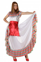 Mexicansk danserindekostume til kvinder