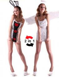 Kostume vendbart engel og kanin til kvinder