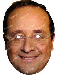 Kartonmaske François Hollande