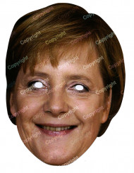 Kartonmaske Angela Merkel