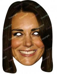 Kartonmaske Kate Middleton