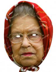 Kartonmaske Dronning Elisabeth med sjal