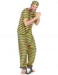 Fangedragt mand gul