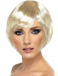 Paryk cabaret kort blond kvinde