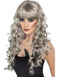 Paryk krøllet sølv havfrue