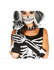 Lange handsker skelet voksen