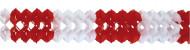 Rød og hvid guirlande