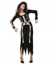 Lang skeletdragt voksen Halloween
