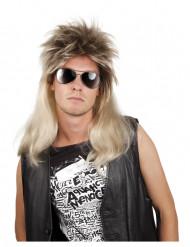 Paryk blond pop rock mand