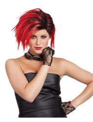 Paryk rød punk korthåret kvinde