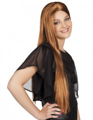 Lang brun paryk kvinde