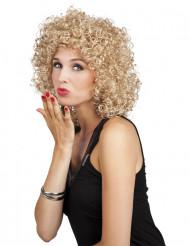 Blond krøllet paryk kvinde
