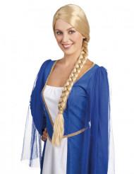 Middelalder blond paryk med fletninger