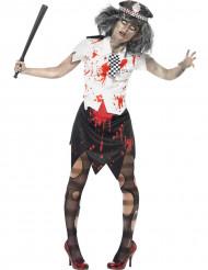 Zombiepolitimandskostume voksen Halloween