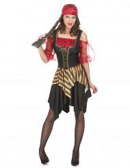 Mrs. Red - Piratkostume til kvinder