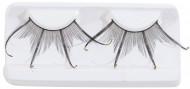 Dobbelte falske øjenvipper sorte med glimmer