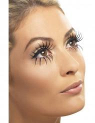 Dobbelte falske øjenvipper sorte
