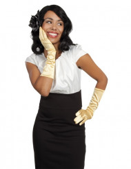 Handsker lange gyldne til kvinder