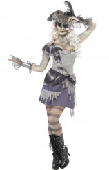 Død piratkvindekostume voksen Halloween