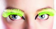 Falske øjenvipper neongul voksen