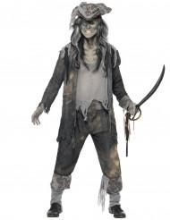 Spøgelse/pirat -kostume herrestørrelse