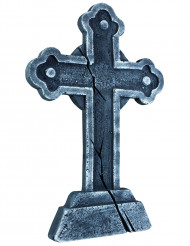 Gravsten med kors - Halloweendekoration