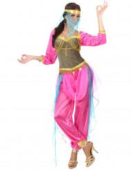 Kostume arabisk-inspireret danserinde lyserød voksen