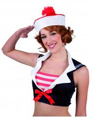 Rød og hvid matroshat til kvinder