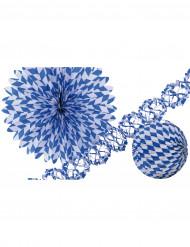 Dekorationer i blåt og hvidt