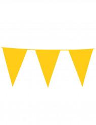Guirlande med gule gigantiske vimpler 10 m