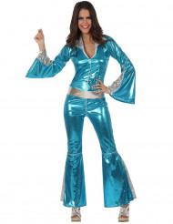 Udklædningsdragt disko blå kvinde